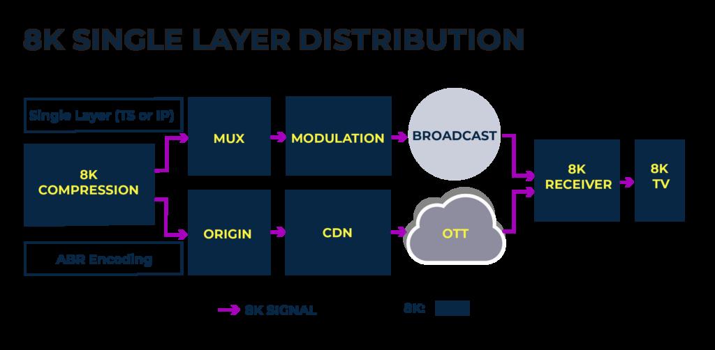 8K single layer distribution chart